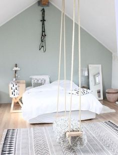 Most Inspirational Teen Girl Bedroom You Need To Know – Home Dekor Bedroom Loft, Home Bedroom, Girls Bedroom, Bedroom Decor, Bedroom Ideas, Swing In Bedroom, Bedroom Retreat, Bedroom Furniture, Small Bedroom Hacks