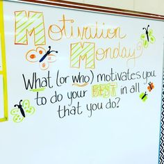 monday motivation kids My kids loved the white board messages all week! Thank you so much to and everyone else doing for the inspiration! Messages Matinaux, Morning Messages, Future Classroom, School Classroom, Classroom Ideas, Classroom Rules, Colegio Ideas, Morning Activities, Class Meetings