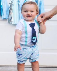 Shark Birthday Outfit 1st Shirts Baby Boy Party Outfits