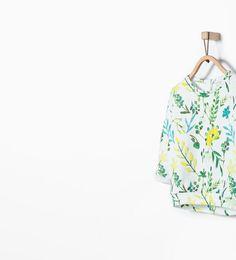 Bild 1 von Sweatshirt mit Blumenmuster von Zara