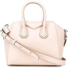 Givenchy mini 'Antigona' tote (422.630 HUF) ❤ liked on Polyvore featuring bags, handbags, tote bags, givenchy, totes, zip top tote bag, mini tote handbag, givenchy handbags, handbags totes and pink tote