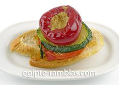 pincho pimiento atun, tapas hot peppers stuffed wwith tuna | Restaurant Egipte Ramblas