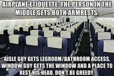 airplane etiquette.