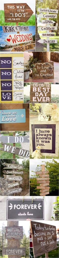 Bruiloft Inspiratie : De leukste tekstborden voor je bruiloft