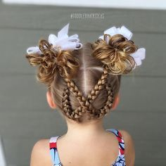 """798 Likes, 35 Comments - Cami  Toddler Hair Ideas (@toddlerhairideas) on Instagram: """"I can't stop staring at today's style, I think it's SO cute!! 2 dutch braids on the backside of the…"""""""