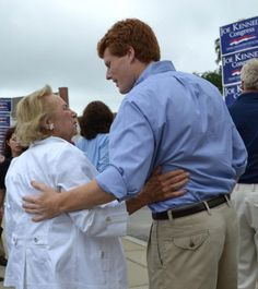 Proud grandmother Ethel with her oldest grandson and political heir Joseph P. Kennedy III.