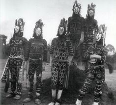 Igbo Agbogho Mmuo (maiden spirit) masks of unknown date and origin.