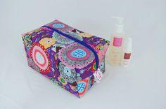 Purple Haze Ripstop Large Wash Box Bag  by LottieDeanBags on Etsy