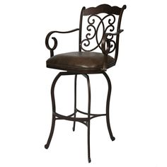 Pastel Furniture Athena 26 Barstool With Arms in Autumn Rust 30 Inch Bar Stools, Swivel Counter Stools, Metal Bar Stools, Pastel Furniture, Home Furniture, Kitchen Dinette Sets, High Quality Furniture, Living Room Sets, Cushions