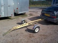 Foldaway Motorcycle Trailer - assembled in less than three minutes