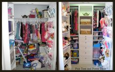How to Build a Closet Organizer {The Reveal!} « Pink Toes and Power Tools  I am so doing this for kids closets!  Love!