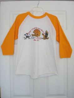 9e1f1381af7fe Notre Dame vs Boston College T-Shirt 1983 Liberty (VATICAN) Bowl Lg 3 4  sleeves  NotreDameFightingIrish