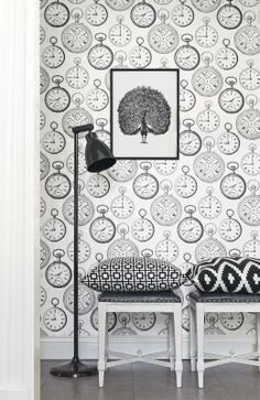 Visit our gallery with inspiration for your entrance. Wallpaper with Scandinavian design from Boråstapeter and Engblad & Co Creative Wall Painting, Creative Walls, Scandinavian Wallpaper, Scandinavian Design, Dream House Pictures, Frame It, Stone Tiles, Designer Wallpaper, Entrance