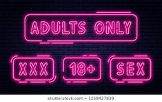 Neon Sign Adults Only 18 Plus Stock Vector (Royalty Free) 1258427842 Videos Bokeh, Adults Only, Erotic, Royalty Free Stock Photos, Neon Signs, Image, Vectors, Activities, Google Search