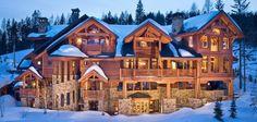 Mansion Log Cabin.....looks like heaven.....wished it was mine