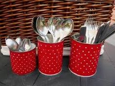Clay Pots, Diy And Crafts, Projects To Try, Canning, Tableware, Glass, Tin Cans, Erika, Cutlery