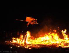 Burning flag, Tankwa Town, AfrikaBurn, SOUTH AFRICA Nomadic Existence