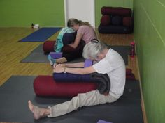 Restorative Yog Pinned for pictures of props since this is a class local to someplace else ( :