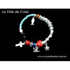 Pulsera plateada La vida de Cristo estilo 50100