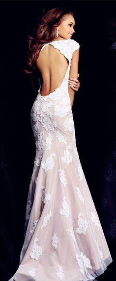 Officina dei Ricami - #wedding #dress - Lace Prom Dresses | Sherri Hill 21028 Lace Open Back Prom Dress