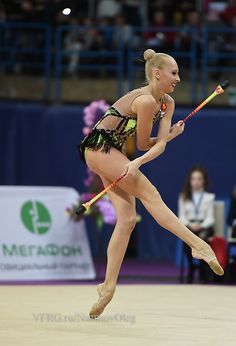 Yana Kudryavtseva, Russia, was the 2nd in clubs at Grand Prix Moscow 2015