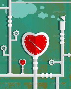Love Heart Shape Steam Mechanism