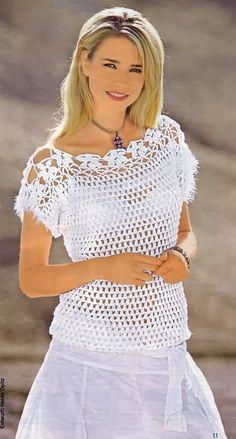 Fabulous Crochet a Little Black Crochet Dress Ideas. Georgeous Crochet a Little Black Crochet Dress Ideas. Débardeurs Au Crochet, Crochet Tunic Pattern, Gilet Crochet, Crochet Motifs, Crochet Shirt, Crochet Woman, Easy Crochet, Crochet Patterns, Quick Knits