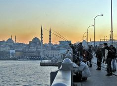 Such a beautiful image of Istanbul.  We saw this speeding by, but I love finding a picture