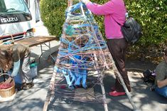 weaving tee-pees