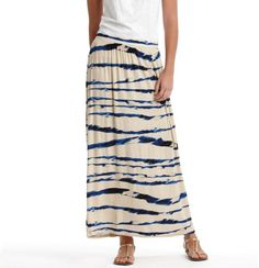 Love this one! Watercolor Stripe Maxi Skirt