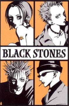 "The ""Black Stones"" (""BLAST""): Nana Osaki, Nobu Terashima, Shinichi Okazaki and Yasu Takagi."