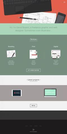 David Boyero a freelance graphic and web designer - Portfolio, html5, Responsive…