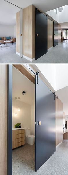 A Contemporary Update For A 1970s Brick House In Melbourne. Barn Door ...