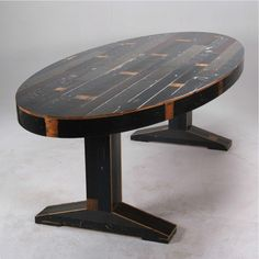 Oval Canteen Table in Scrapwood