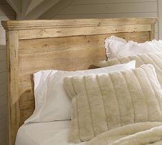 Mason Reclaimed Wood Headboard & Dresser Set - Wax Pine finish #potterybarn
