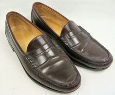 878df2a1b39 Allen Edmonds Men s Essex Burgundy Leather Penny Loafer Slip On Shoes -  10.5 D  AllenEdmonds