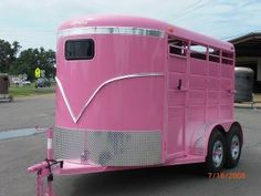 PINK - Horse Trailer  i really want Shannon to do this to my trailer!!!!!