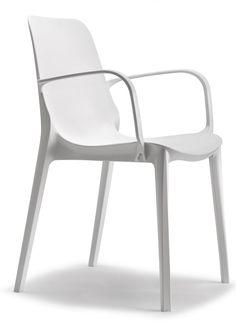 Ginevra stoel wit met armleuning - Scab Design