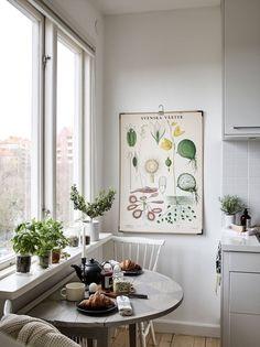 mesa de desayuno en la cocina