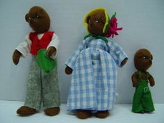 Vintage German Baps Dolls 3 Bears Poppa Bear Momma Bear and