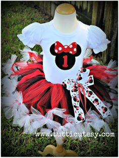 Minnie Mouse Birthday Tutu Outfit by tutticutesytutus on Etsy, $56.99