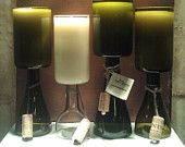 Repurposed 14 oz Scented Wine Bottle Candles by UReflections