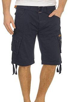 5f5eabdd33 INDICODE Hampton Herren Cargo Shorts Bermuda Shorts kurze Hose mit Gürtel:  Amazon.de: Bekleidung