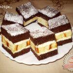 Jugoszláv krémes Eta módra Hungarian Desserts, Hungarian Recipes, Hungarian Food, Delicious Desserts, Dessert Recipes, Cake Bars, Tiramisu, Waffles, Bakery