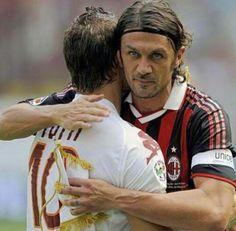 Maldini & Totti .. living legands