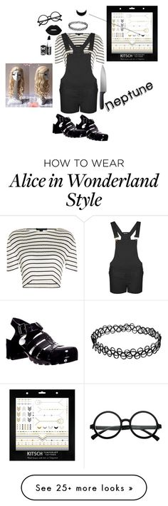 """Neptune"" by moonlightlucyftluke on Polyvore featuring Alexander Wang, Kitsch, Lime Crime, WearAll and OXO"