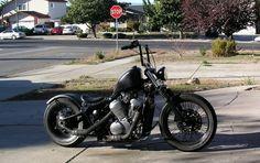cant stop staring... Honda Shadow VLX 600 Bobber, Peanut Tank