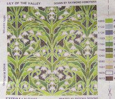 Ehrman Needlepoint Kit  'Lily-Of-The-Valley' Cushion Art Nouveau Style Honeyman #Ehrman