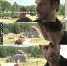 """31 Things Only """"The Walking Dead"""" Fans Will Understand 31 Things Only """"The Walking Dead"""" Fans Will Understand Related posts:The Walking Dead memes Glad I wasn't the only one who thought this.☣The Walking Dead. Walking Dead Funny, Fear The Walking Dead, Walking Meme, Walking Dead Tv Series, Z Nation, Best Tv Shows, Best Shows Ever, The Walk Dead, Twd Memes"""