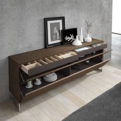Buffet contemporain / en bois GINGA + : A. Dining Room Console, Dining Room Furniture, Home Furniture, Furniture Design, Sideboard Furniture, Modern Sideboard, Furniture Hardware, Credenza, Muebles Living
